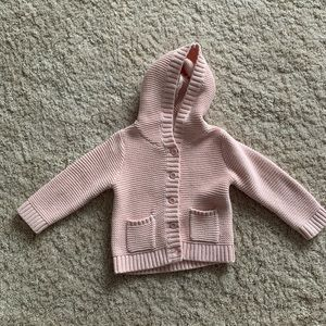 Gap Baby Knitted Hoodie Button Up